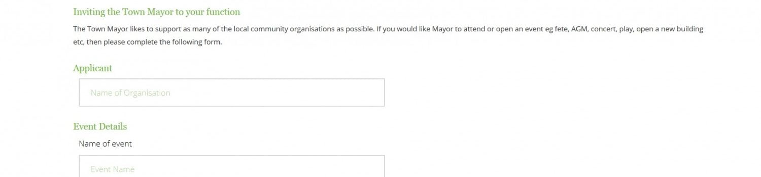 Invite the mayor form online banner
