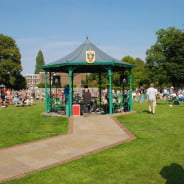 Bandstand, summer's day. Music, people.