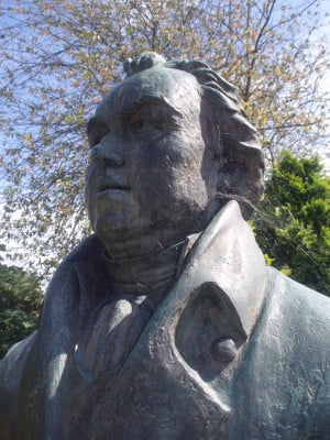 William Cobbett bust Farnham museum
