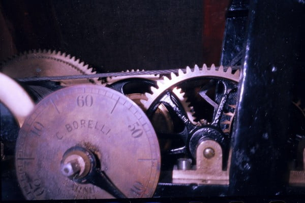 Cogs and wheels, mechanism of Town Council clock