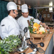 Chefs preparing food at the Food Festival. © David Fisher 2013