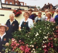 Madge Green and Farnham in Bloom volunteers