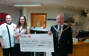 Cheque presentation Phyllis Tuckwell Hospice Care