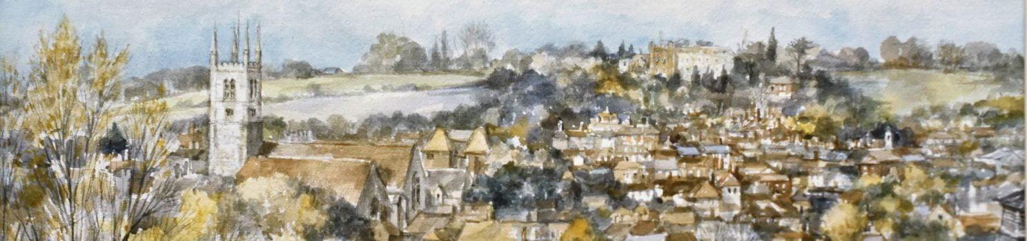 Farnham Castle and St Andrew's copyright Charles Bone PPRI ARCA