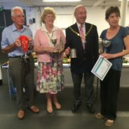 The Mayor and Mayoress with winners of the Allotment Show 2016
