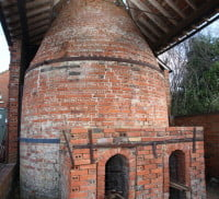 Red brick pottery kiln