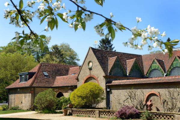 Watts Gallery exterior with blossom