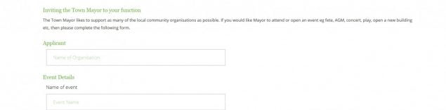 Invite the mayor form online banner