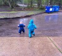 Raining at Frensham great pond