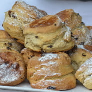 Plate of fruit scones