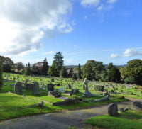 Green Lane cemetery, headstones, graves.© Farnham Town Council