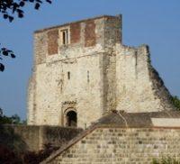 Stone castle keep.