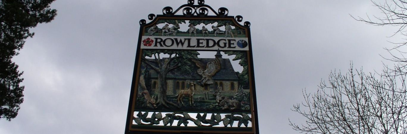 Rowledge Village Sign