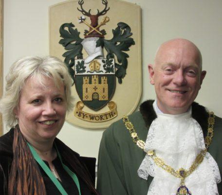 Mayor of Farnham, Cllr Mike Hodge and his Consort, Cllr Julia Potts.