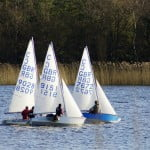 Three sailing boats, Frensham Pond.
