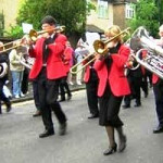 Farnham Brass band at Farnham Carnival
