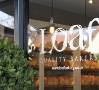 Front window of Loaf bakers shop.