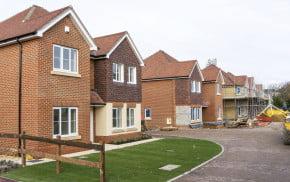 New houses, construction site, draft neighbourhood plan