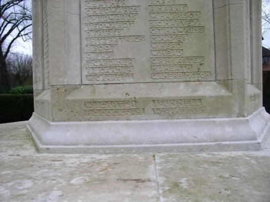 war memorial inscriptions copyright FTC