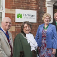 Bob Frost; Cllr Mrs Pat Frost, Mayor of Farnham; Gillian Ward and Cllr John Ward, Deputy Mayor of Farnham.