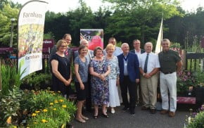 People in group at Reception to celebrate 25 years of Farnham in Bloom.