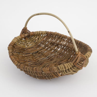 judith needham basket with wood handle copyright New Ashgate Gallery