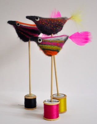 naomi beevers birds on spools copyright New Ashgate Gallery