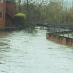 River Wey by Maltings flooded