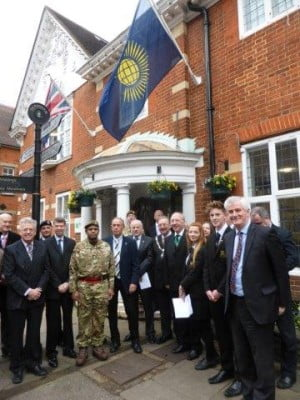 Commonwealth Day 2015. Copyright Farnham Town Council
