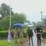 Armed Forces Week flag raising 2016