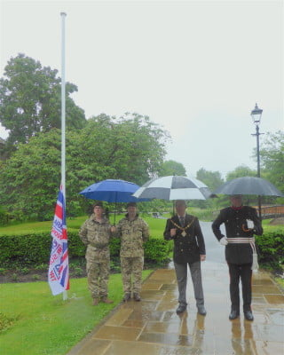 Armed Forces Week flag raising 2016