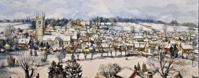 Farnham in winter copyright Charles Bone PPRI ARCA