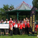 Farnham Brass Band cheque handover