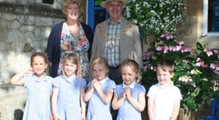 St Andresw's School and the MAyor and Mayoress of Farnham