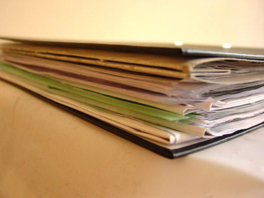 A pile of documents.