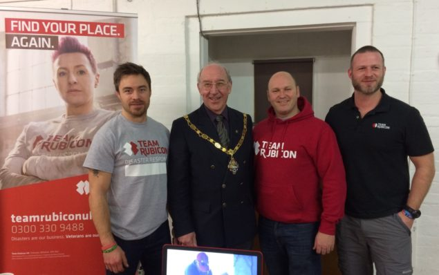 The Mayor of Farnham with members of Team Rubicon