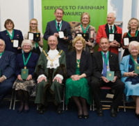 Recipients of Services to Farnham Awards 2017.