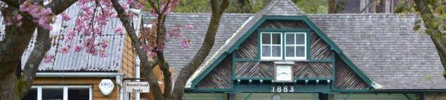Slate roof of a pavilion