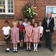 Potters Gate - Winners of the schools hanging basket competition