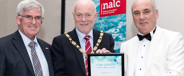 The Star Councils award 2017 was presented by award sponsor Blachere to Mayor of Farnham Councillor Mike Hodge and Town Clerk Iain Lynch