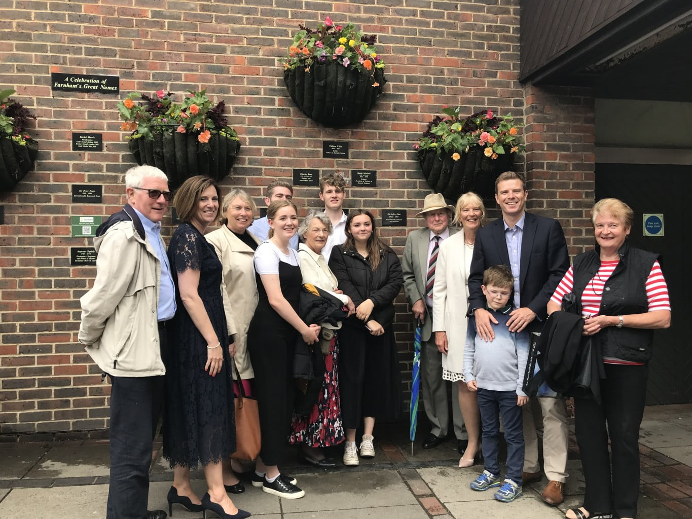 Family of Sir Jeffrey Tate CBE at the unveiling of Famous Names plaque