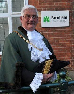 Mayor of Farnham Cllr David Attfield