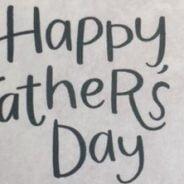 Happy Father's Day in script