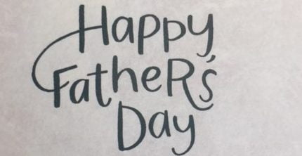 Happy Father's Day in script