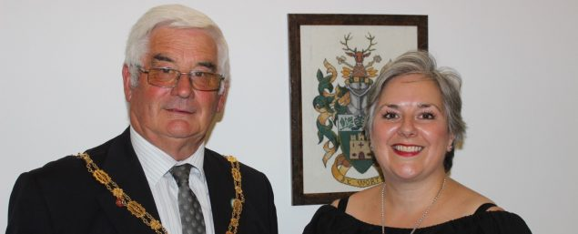 Mayor of Farnham Cllr David Attfield with newly elected Deputy Mayor Cllr Paula Dunsmore.