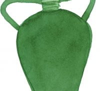 Illustration of a green vase