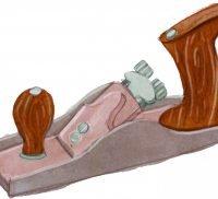 Illustration of a hand planer