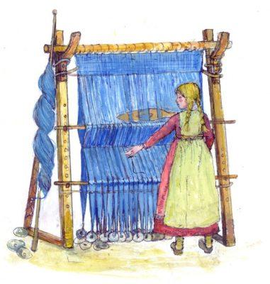 Saxon weaving © Victor Ambrus
