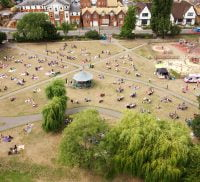 Aerial photo of a park