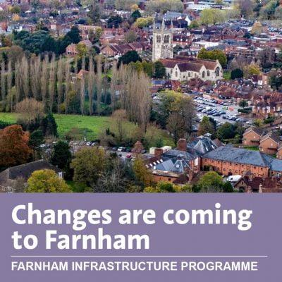 Aerial photo of Farnham